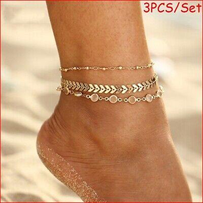 jewelry JJLIKER Gold Silver Ankle Bracelet Women Anklet Adjustable Chain Foot Beach
