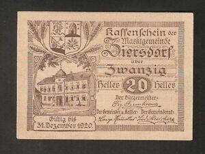 Austria-ZIERSDORF-20-heller-1920-Austrian-Notgeld