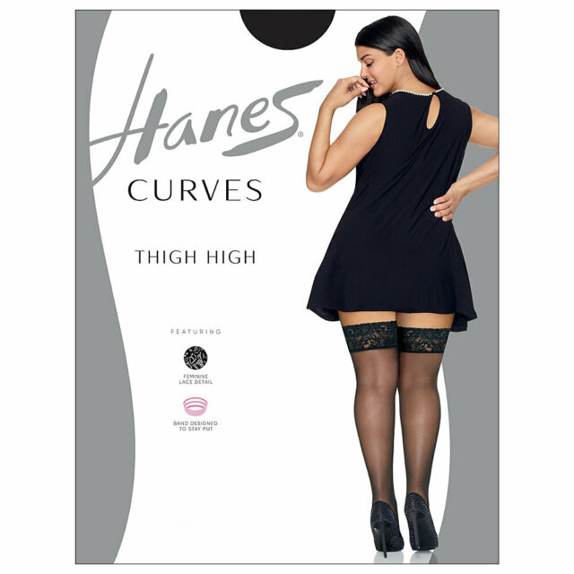 New women/'s JMS Just My Size Seasonless Ultra Soft Black Plus Size Tights 3X//4X
