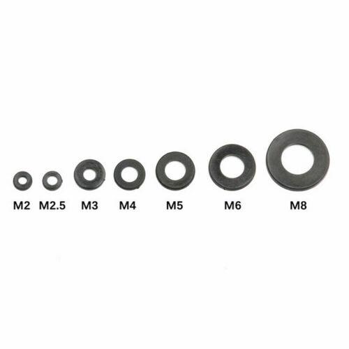 364Pcs Nylon Flat Ring Plain Repair Washer Gasket M2//M2.5//M3//M4//M5//M6//M8  KD