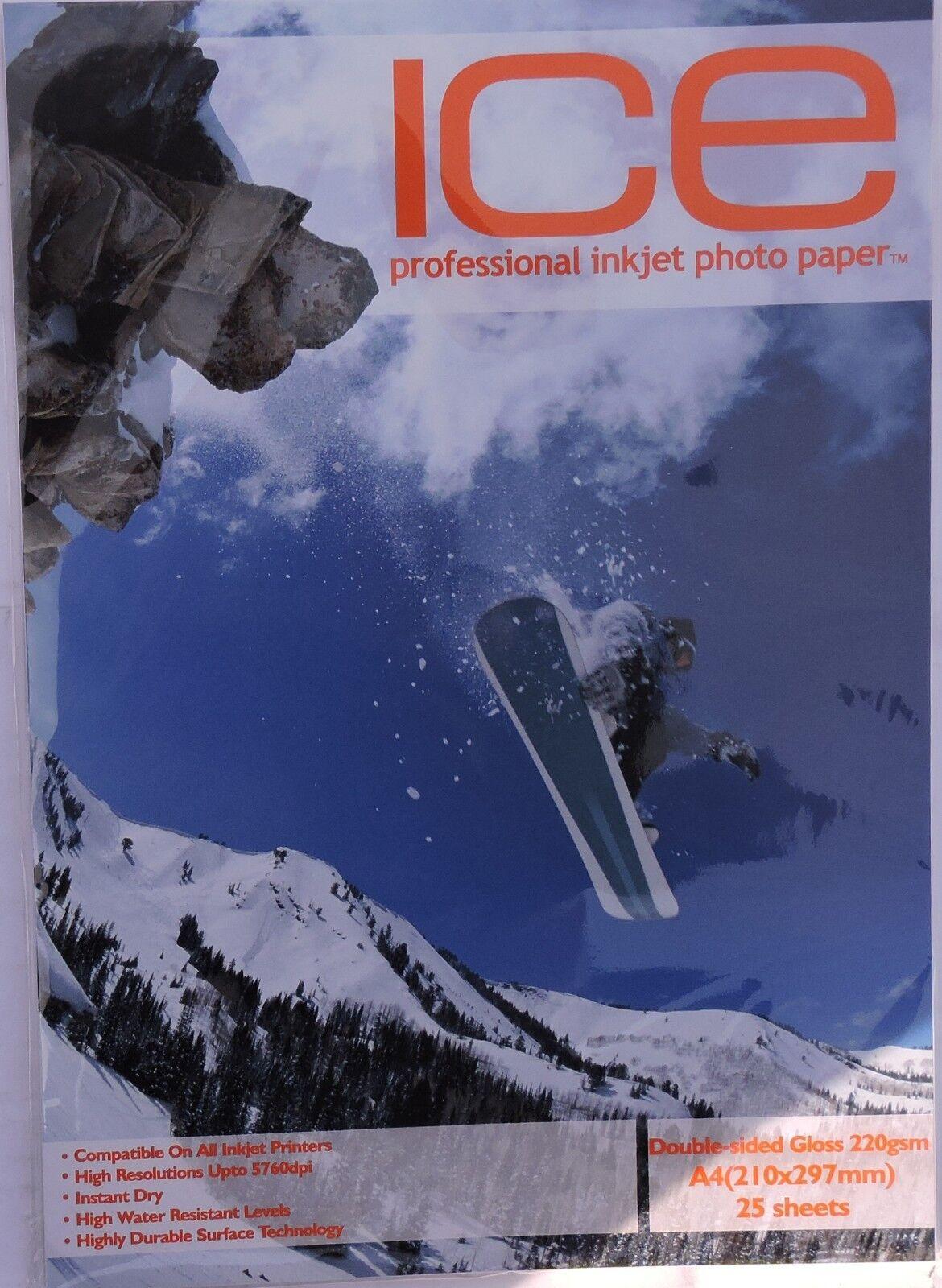 Ice A4 220g M ² Doppelseitige Hochglanz   Glossy Fotopapier (200, 400 Seiten)   Stilvoll und lustig