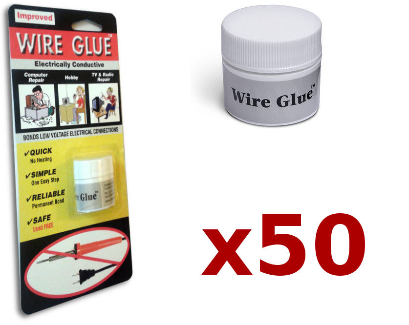 50x Highly Conductive Wire Glue/Paint for AC/DC (Trade pack) - NO Soldering Iron