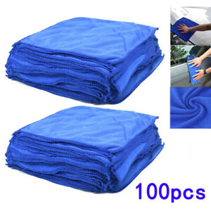 100X-LARGE-MICROFIBRE-CLEANING-AUTO-CAR-DETAILING-SOFT-CLOTHS-WASH-TOWEL