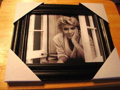 MARILYN MONROE 11X13 MDF FRAMED PICTURE #5 BLACK COLOR FRAME