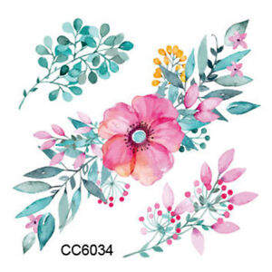 2cef143ff Image is loading SMALL-FLOWER-TATTOO-FLOWER-TEMPORARY-TATTOO-CUTE-PINK-