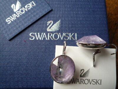 "Earrings Splendides Dormeuses ""swarovski Paris"" Collection Oval/cristal Rose/neuf/ecrin Relieving Rheumatism"