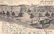 Landsberg an der Warthe / Gorzów Moltkeplatz Strassenbahn Postkarte 1900