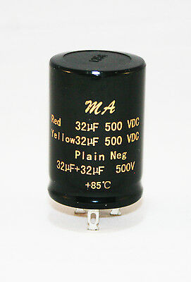 100+100uf, 50+50uf, 32+32uf 500v Audio Electrolytic Double Smoothing Capacitors