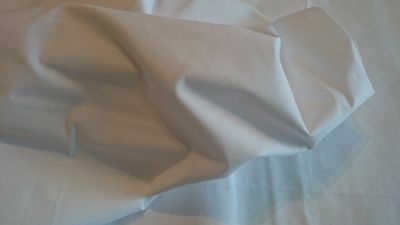 """216cm 50mts ROLL 100/% Cotton Curtain Lining WHITE Fabric Extra Wide 85/"""""""