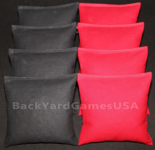 CORNHOLE BEAN BAGS Black /& Red ACA Regualtion Corn Toss Game Bags Best Quality!!