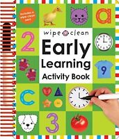 Wipe Clean Activity Book, Preschool Learning Writing Numbers Practice Math on sale
