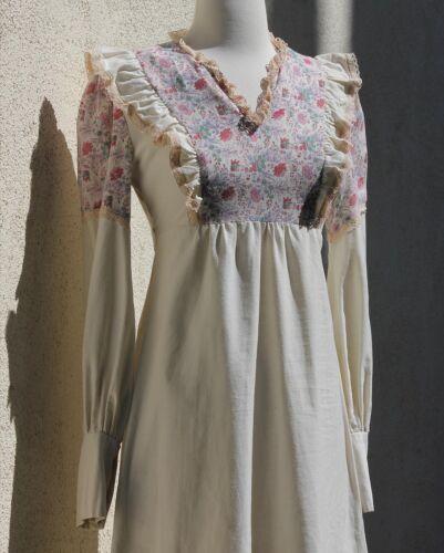 Vintage Gunne Sax Style Dress Boho Cotton Calico … - image 1