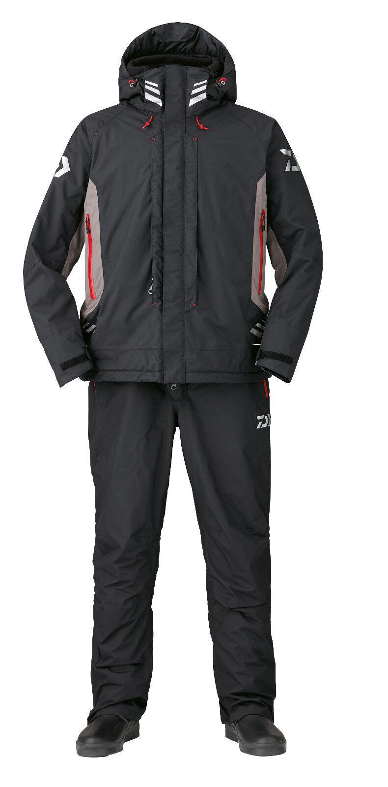Daiwa Rainmax® Hyper - Winteranzug DW-3407 Thermoanzug Schwarz / / / Rot Thermo 1c5016