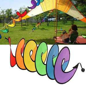Camping-Tent-Foldable-Rainbow-Spiral-Windmill-Wind-Spinner-Home-Garden-Decor