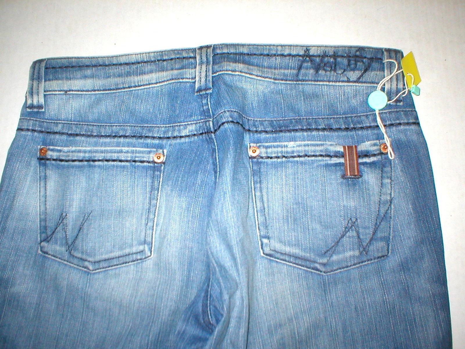 New NWT Womens Notify Designer Jeans  30 Slim Straight Hellebora Tall Stret