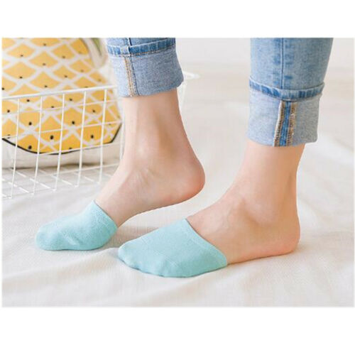 5 Pairs Womens Non Slip High Heels Sandal Invisible Half Footie Cotton Socks