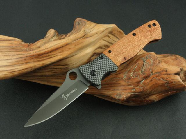 New Browning DA45 Folding Tactical Knife Titanium Surface Camping Knife