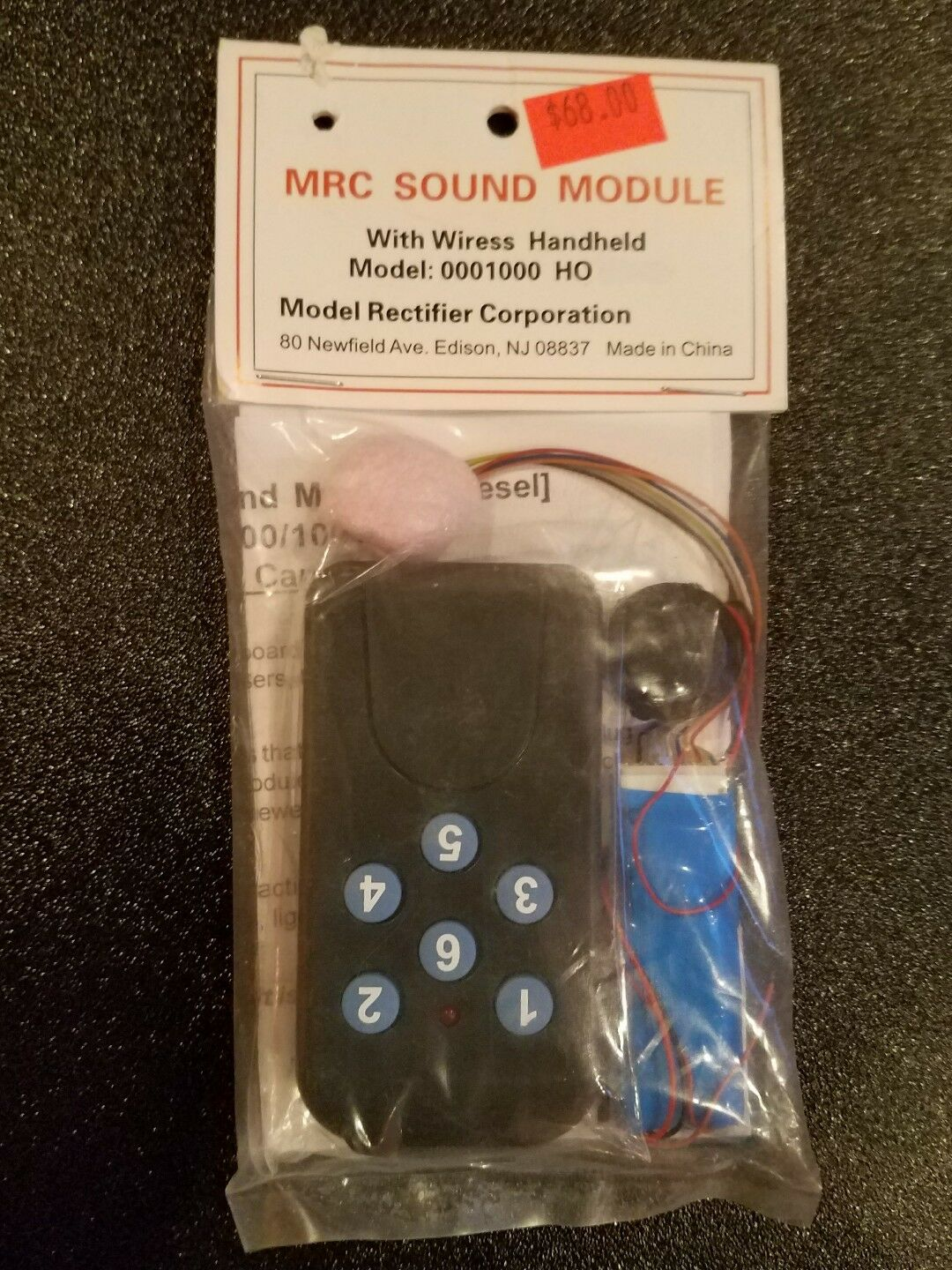 MRC SOUND MODULE W/WIRESS HANDHELD MODEL  0001000 HO MOD & WALKAROUND NEW