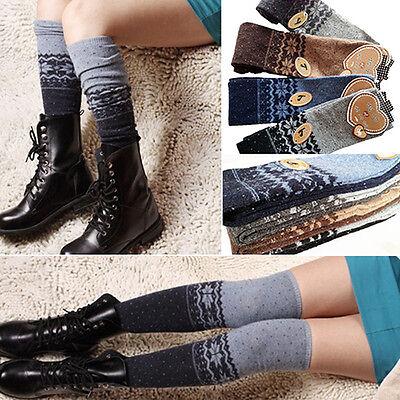 Women Glamor Snowflake Thigh High Leg Warmer Sock Fantastic Winter Boot Stocking