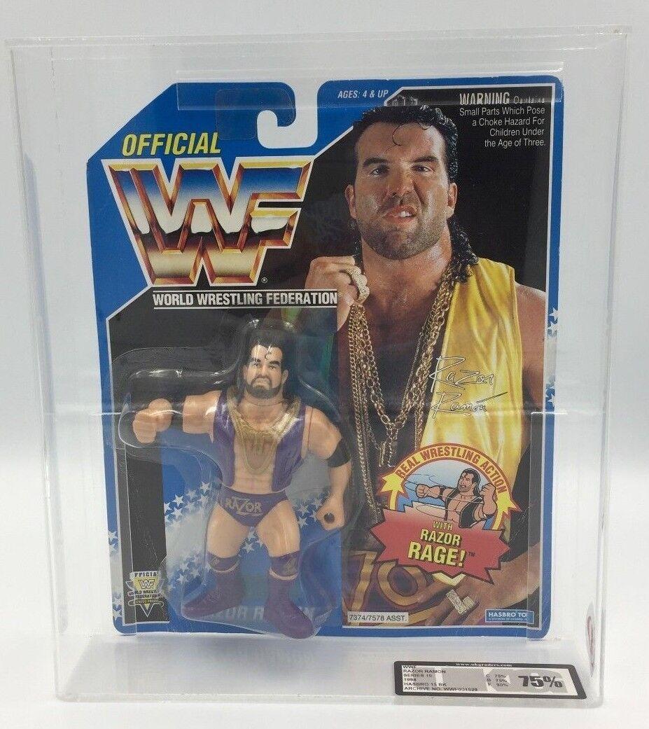 WWF Hasbro RAZOR RAMON lila Pants 1994, Series 10 Carded Figure-UKG 75%  RARE