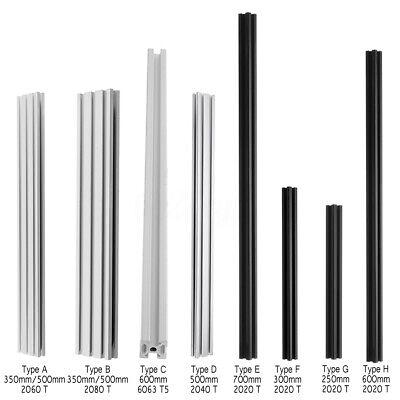 250mm-700mm T-Slot Aluminum Profiles Extrusion Frame DIY For 3D Printers CNC