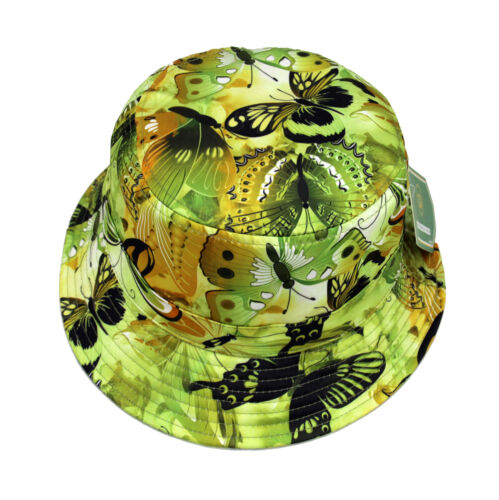 Bucket hat Boonie cap Flower Floral cap Fishing Hunting Outdoor Butterfly