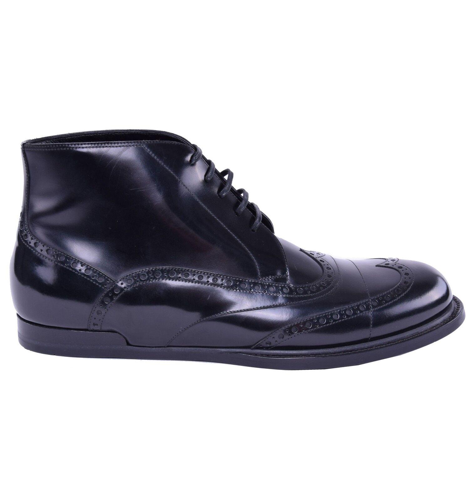 Dolce & gabbana glanzleder business boots black shoes boots 03866