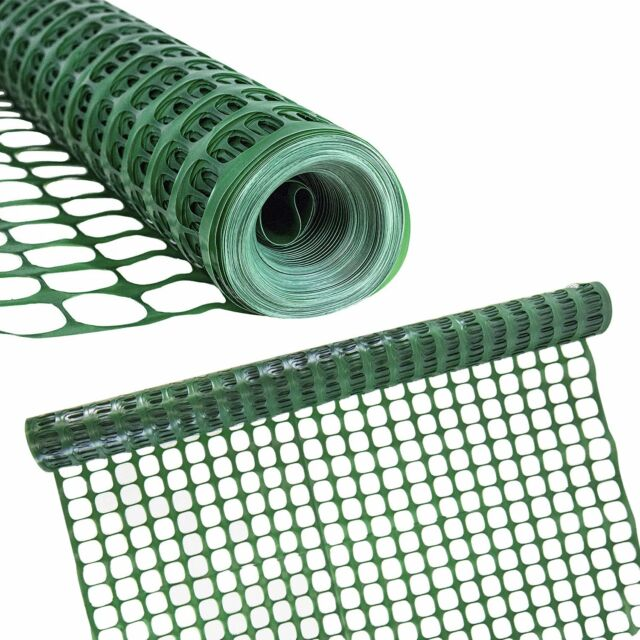 Houseables Safety Fence Snow Fencing Deer Netting Single Green 4 X