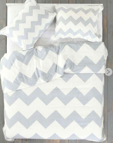 Ice Grey and White Hamptons Queen Duvet Doona Bed Quilt Cover Pillow Slips Set