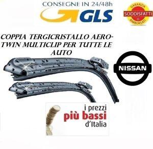 2-SPAZZOLE-TERGICRISTALLO-AEROTWIN-ANTERIORI-NISSAN-QASHQAI-DA-12-2006-A-11-2013