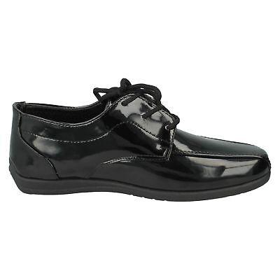 OFERTA Jcdees n1110 Niños Charol Negro Cordones Elegante Formal Zapatos