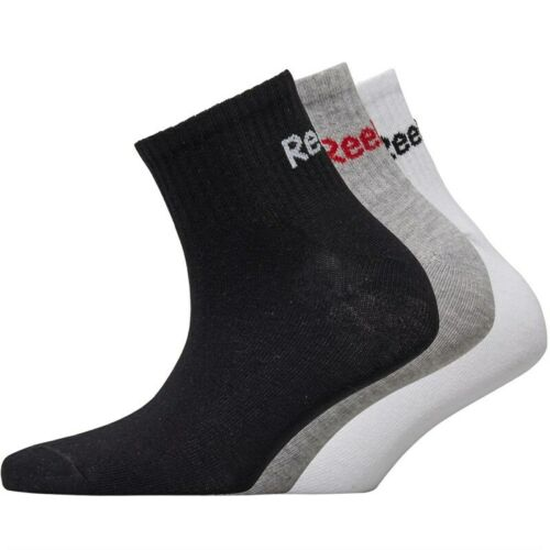 3 Pack Womens Reebok Quarter Socks NEW Size 3-7 UK Seller Logo Trainer