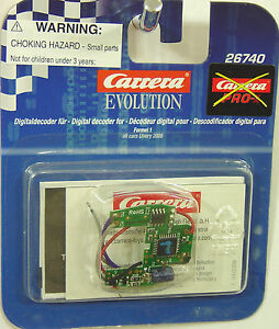 Carrera 26740 Digital-Decode<wbr/>r for F1-Cars from Livery 2008 for 132 Slot Car Part