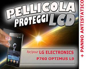 Pellicola-protezione-LCD-per-LG-ELECTRONICS-P760-OPTIMUS-L9-PANNO-ANTISTATICO
