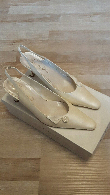 Wedding shoes, Slingbacks, DORIANI, Ivory, Size 39,5, Top!