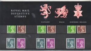 GB 1991 REGIONAL MACHINS DEFINITIVE STAMPS PRESENTATION PACK No. 26 MINT STAMP