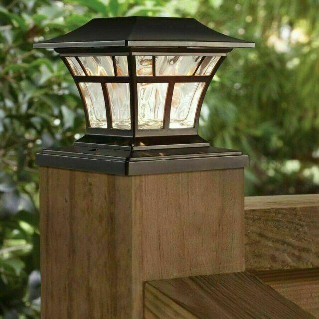 Bronze Solar Led Deck Post Cap Light 4x4 6x6 Outdoor Garden Patio Lighting For Sale Online Ebay