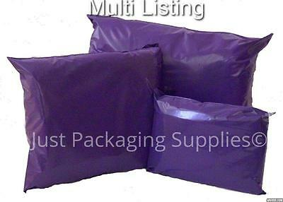 PURPLE PLASTIC MAILING BAGS MULTI LISTING 6 SIZES - choose your amount and size