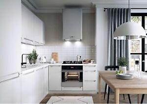 Details zu L-Form Küche, Schränke, Küchenzeile erweiterbar Weiss matt  Fronten Neu&Schnell