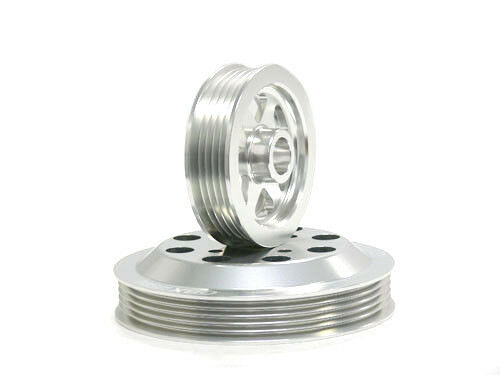 OBX Silver Overdrive Pulley Set For 1990-1994 Mitsubishi Eclipse 2.0L 4G63T DOHC