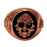 Large Copper Odin Norse Valknut Rune Signet Ring Viking Asatru Jewery