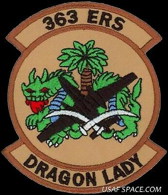 USAF 363rd EXPEDITIONARY RECONNAISSANCE SQ.U-2 DRAGON LADY-Deployed DESERT PATCH