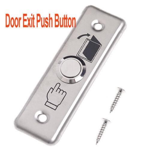 Salida de la puerta de acero inoxidable pulsador interruptor de liberación de la estación de control sistema de puerta de esclusa