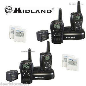 cd3a99d6845 MIdland LXT500VP3 Two Way Radio Walkie Talkie Set 24 Mile Range 4 ...