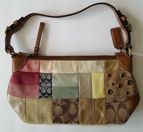Vintage Coach Patchwork Purse - Very Nice Condit… - image 1