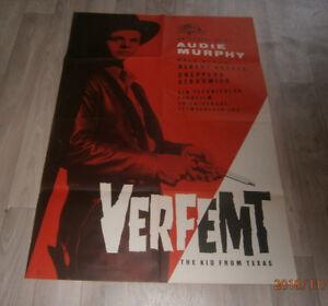 A1 Filmplakat   VERFEMT THE KID FROM TEXAS , AUDIE MURPHY