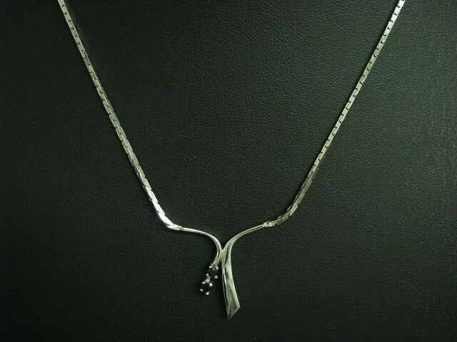 925 Sterling silver Collier mit Spinell Besatz   Echtsilver   41,3cm   7,5g