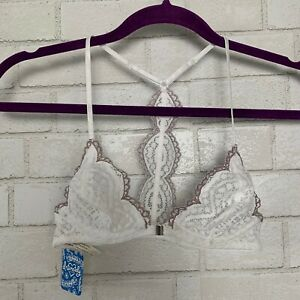 Free People Womens Slow Dance Underwire Bralette Lace Bra Size 32C White NWT
