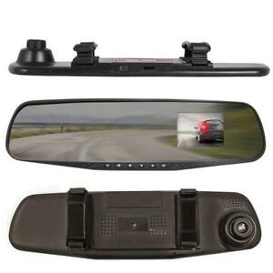 "J2D 2.4"" Smart Rear View Mirror Replacement Car Dash Cam Camera Record 1080P"