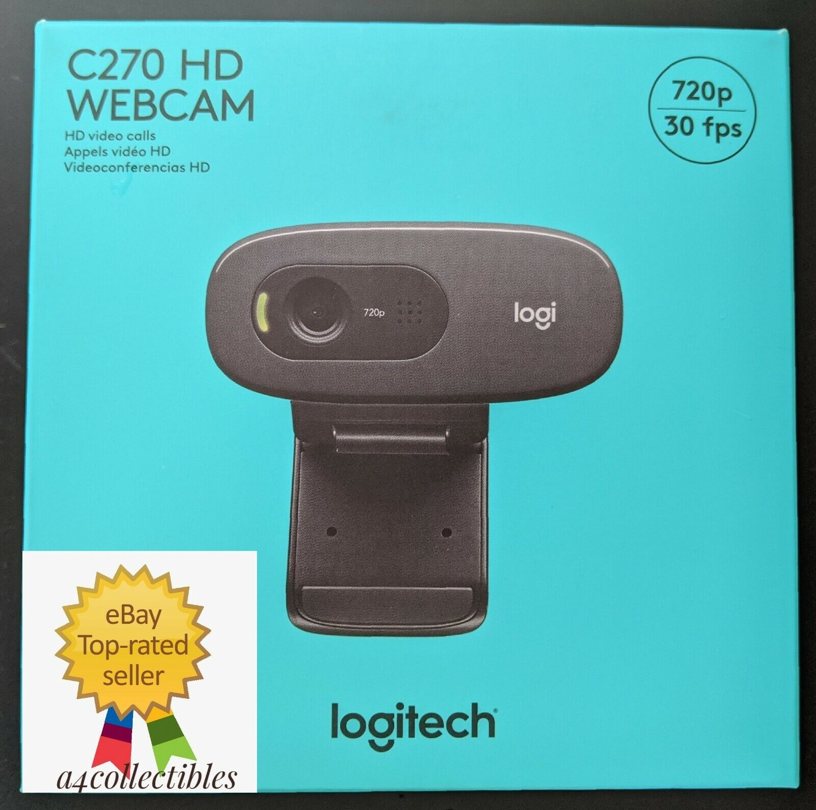 Logitech C270 Hd Webcam 720p Black Video Web Cam In Hand Fast Shipping 97855070739 Ebay